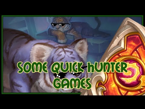 Hearthstone: some quick hunter games (beast hunter)