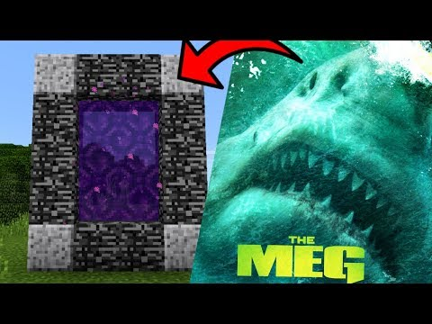 How To Make A Portal To The MEGALODON Dimension In Minecraft PE