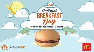 WATCH: McDonalds National Breakfast Day 2018