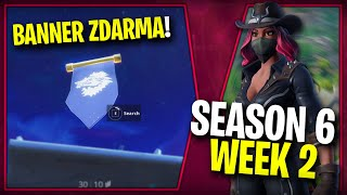WHERE is the FIRST FREE BANNER for the SEASON 6 (Week 2)-Fortnite Battle Royale CZ/SK
