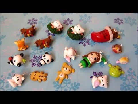 Cute Kawaii Polymer Clay Charm Update 7 More Christmas Charms Kawaii Animals And More Youtube Polymer Clay Charm Update 7 More Christmas Charms Kawaii
