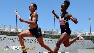 Allyson Felix's anchor helps USA edge out 3x100 relay at Inspiration Games | NBC Sports