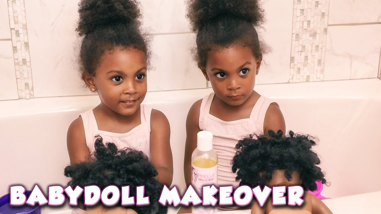 baby-doll natural hair makeover