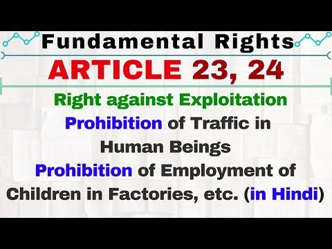Article 23 and 24 of Indian Constitution in HIndi | Right against Exploitation | IAS | SSC CGL