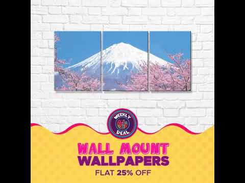 Weekly Deal: Wall Mount Wallpapers At 25% Off!.com