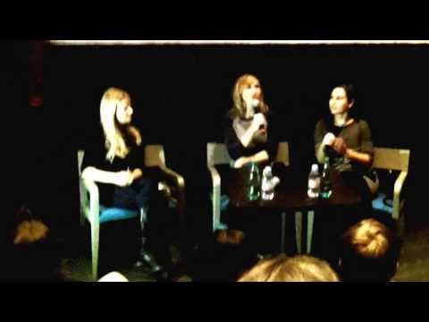 Kari Byron answers the questions in Moscow