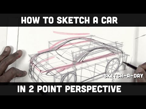 How to draw a car in two point perspective