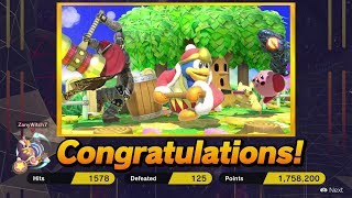 Super Smash Bros Ultimate: Classic Mode w/ King Dedede - Ends at 9.9 Intensity