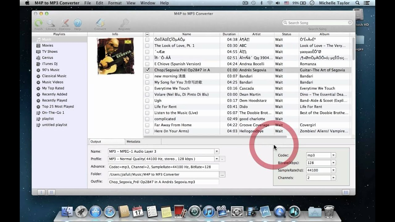 Apple m4a to mp3 converter