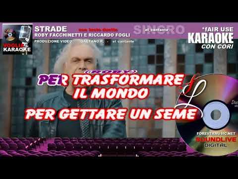 Roby Facchinetti & Riccardo Fogli - Strade - Karaoke  (SL)
