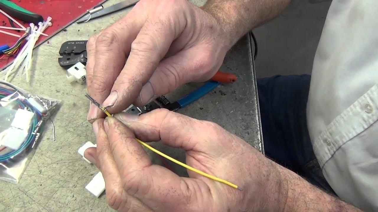 Molex Connector Crimping Youtube 4 Pin Wiring Diagram