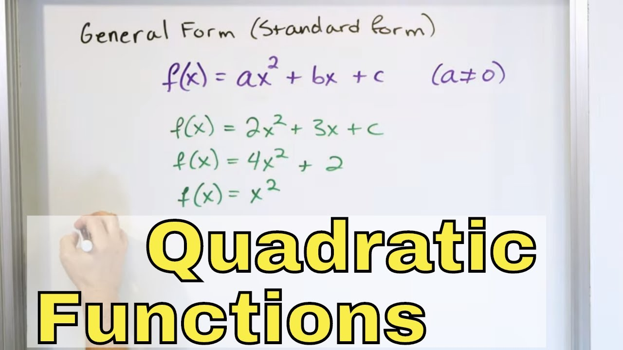 133 - Writing Quadratic Functions in Vertex Form - Part 13 (Graphing  Parabolas)