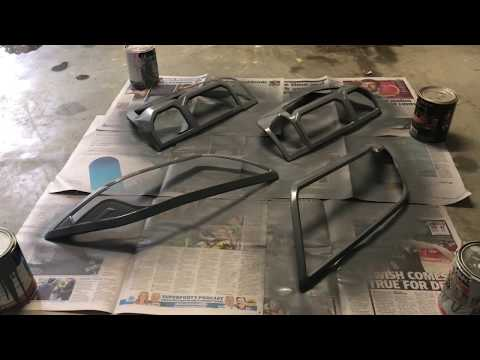 How to spray paint plastic car light covers or trims