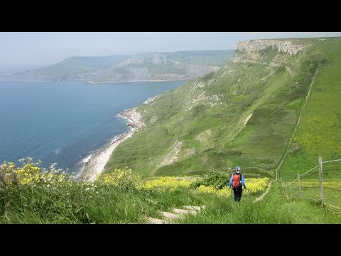 St Alban's Head, Jurassic Coastline Walks In Dorset, England, UK