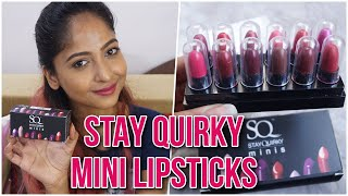 STAY QUIRKY MINI LIPSTICKS   SWATCHES & REVIEW   What's with the names?? 😅   Stacey Castanha
