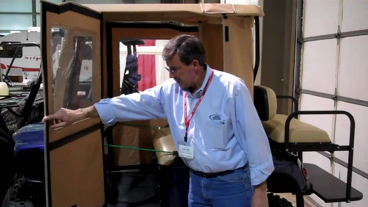 Mulligan S Swinging Door Golf Cart Enclosure Youtube