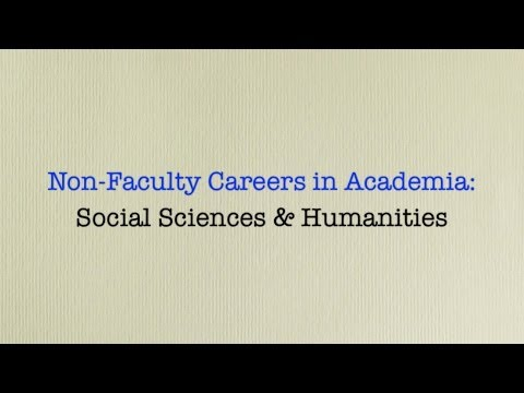 2/5/2014 Non-Faculty Careers in Academia for Social Science and Humanities PhDs