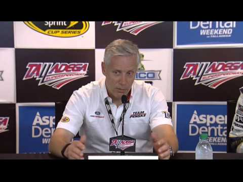 Talladega media interview with Paul Wolfe & Bud Denker, winning team - Let's Talk Racing TV Show