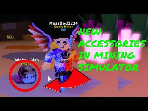 NEW PET ACCESSORIES IN MINING SIMULATOR!! - Mining Simulator Testing Server