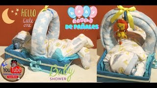 Bebe de pañales DIY IDEAS Regalos para Baby Shower/How to make a diaper baby - Sleeping Baby Boy