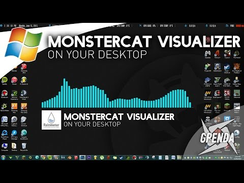Monstercat Visualizer On Desktop - Rainmeter (Windows)