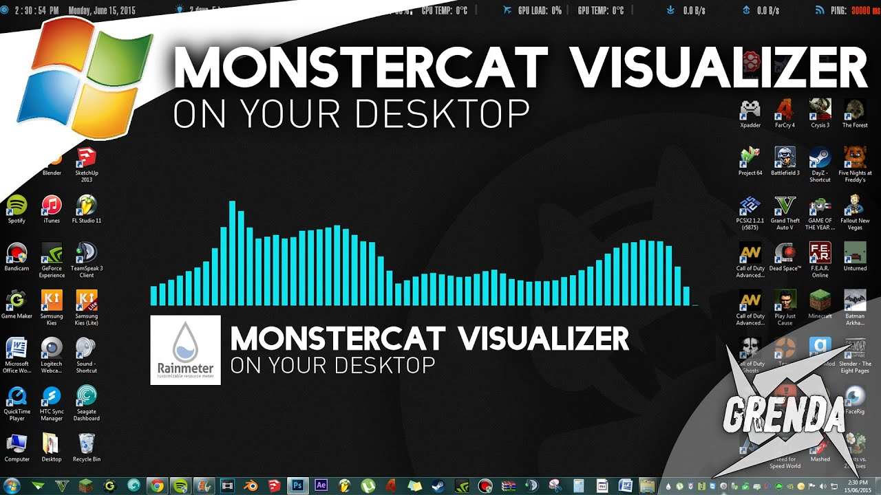 Monstercat Visualizer On Desktop