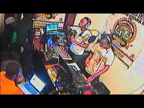 LAUNCHING OF GET IN LINE BY C-BURN (STUDIO OF BROOKLYN GHANA RADIO)