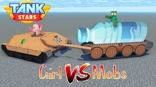 MONSTER SCHOOL:GIRLS VS MOBS TANK STARS CHALLENGE-Minecraft Animation