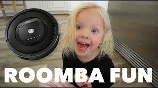 Quadruplets did WHAT to the Roomba?