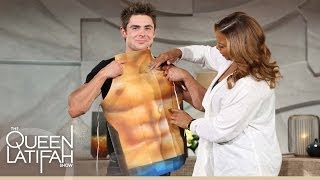 Zac Efron Shows Off His Abs... Sort Of. | The Queen Latifah Show