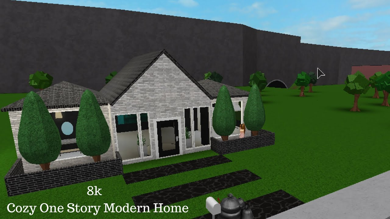 Roblox bloxburg 8k cozy one story modern home speed build