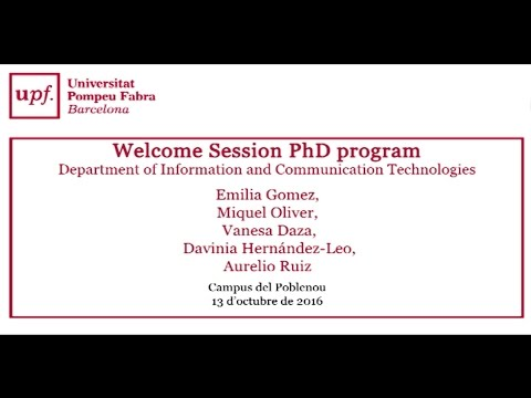 Welcome Sessions PHD Students 2016-2017