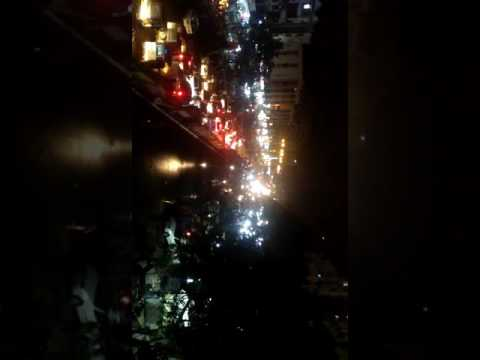 After winning match trafic jam in karachi