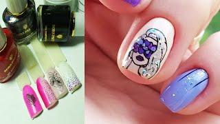 ❤ ЛАК и ГЕЛЬ КРАСКА для СТЕМПИНГА ❤ BORN PRETTY ❤ дизайн МНЕ ВСЕ ФИОЛЕТОВО ❤ СТЕМПИНГ на ногтях ❤