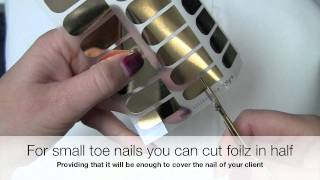 Nail design foils - Kinetics Foilz application, nail foil application Thumbnail
