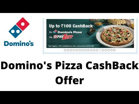 Domino's Pizza cashback offer order online and get cashback PayZapp app offer