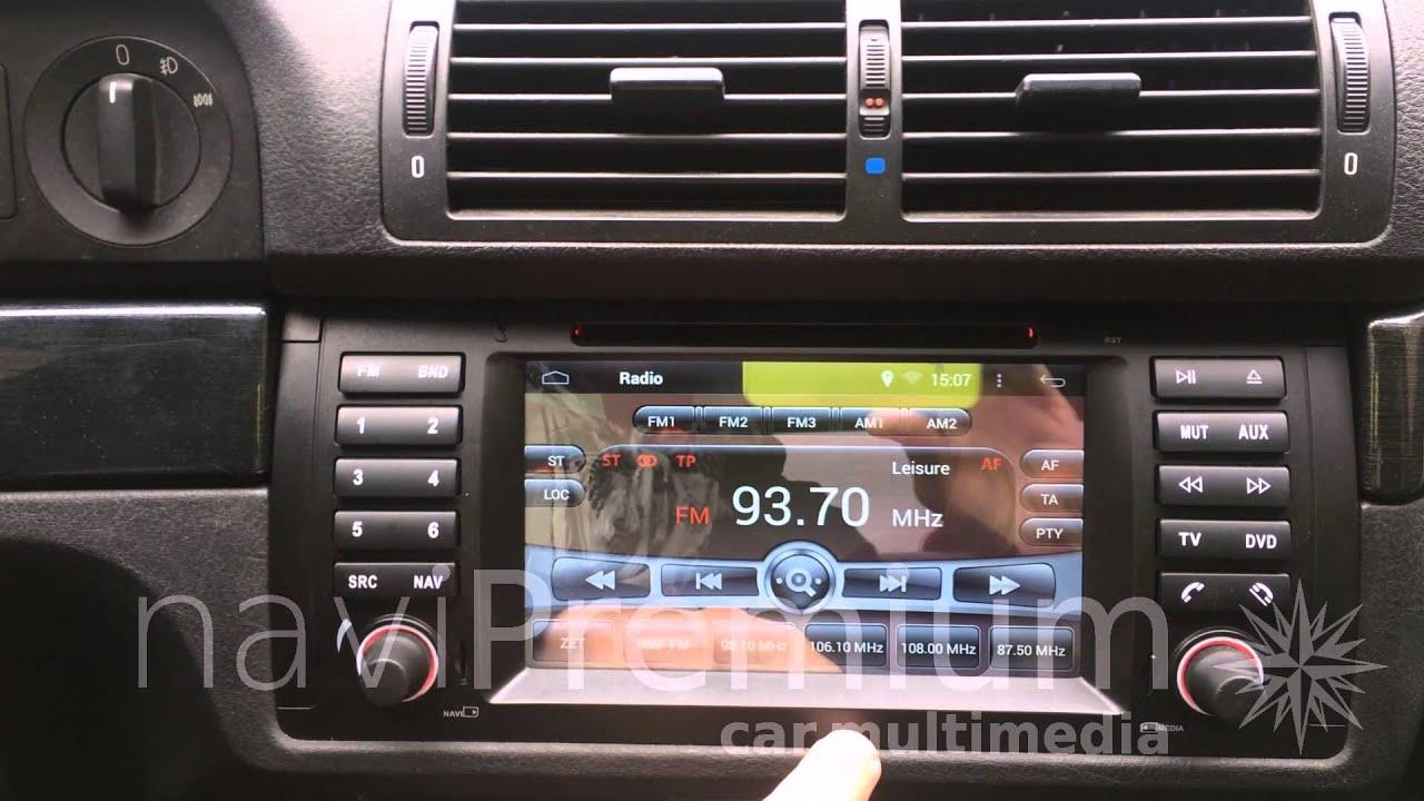 Radio Nawigacja Bmw E39 E53 X5 Android 4 4 Gps Youtube