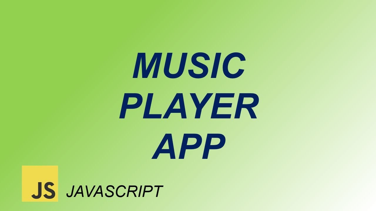 How to make Music Player app using HTML CSS and JavaScript   javascript project