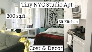 Download TINY NYC APARTMENT TOUR | 300 sq ft Studio | Rent? Decor?