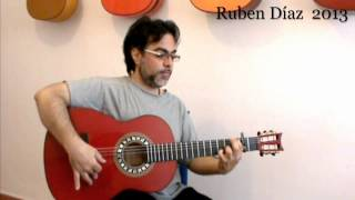 Almoraima Step by Step 6 /Ruben Diaz Andalusian Flamenco Guitar Lessons on Paco de Lucia's Technique