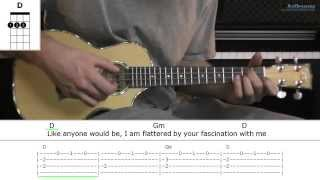 How to play Uninvited with Alanis Morissette (Ukulele lesson)