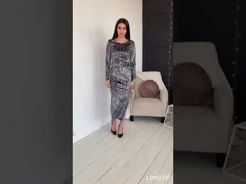 Женское велюровое платье VT-271019A150