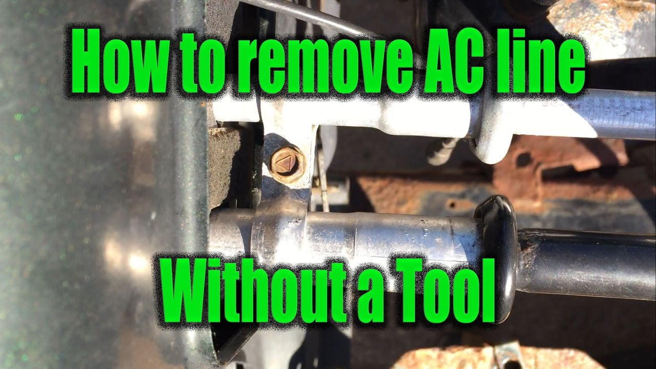 How to remove a Garter Spring Lock AC Line Connector without tool using a hose clamp  YouTube