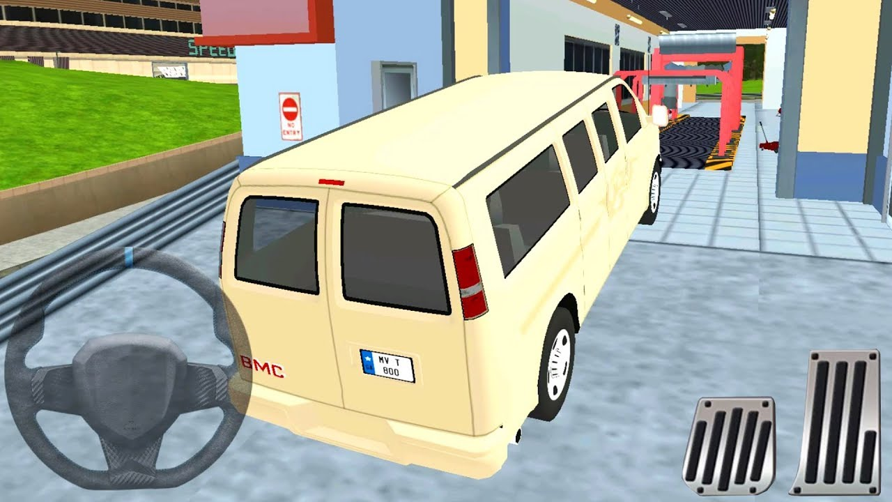 Multi floor garage driver people carrier car driving for Simulatore 3d