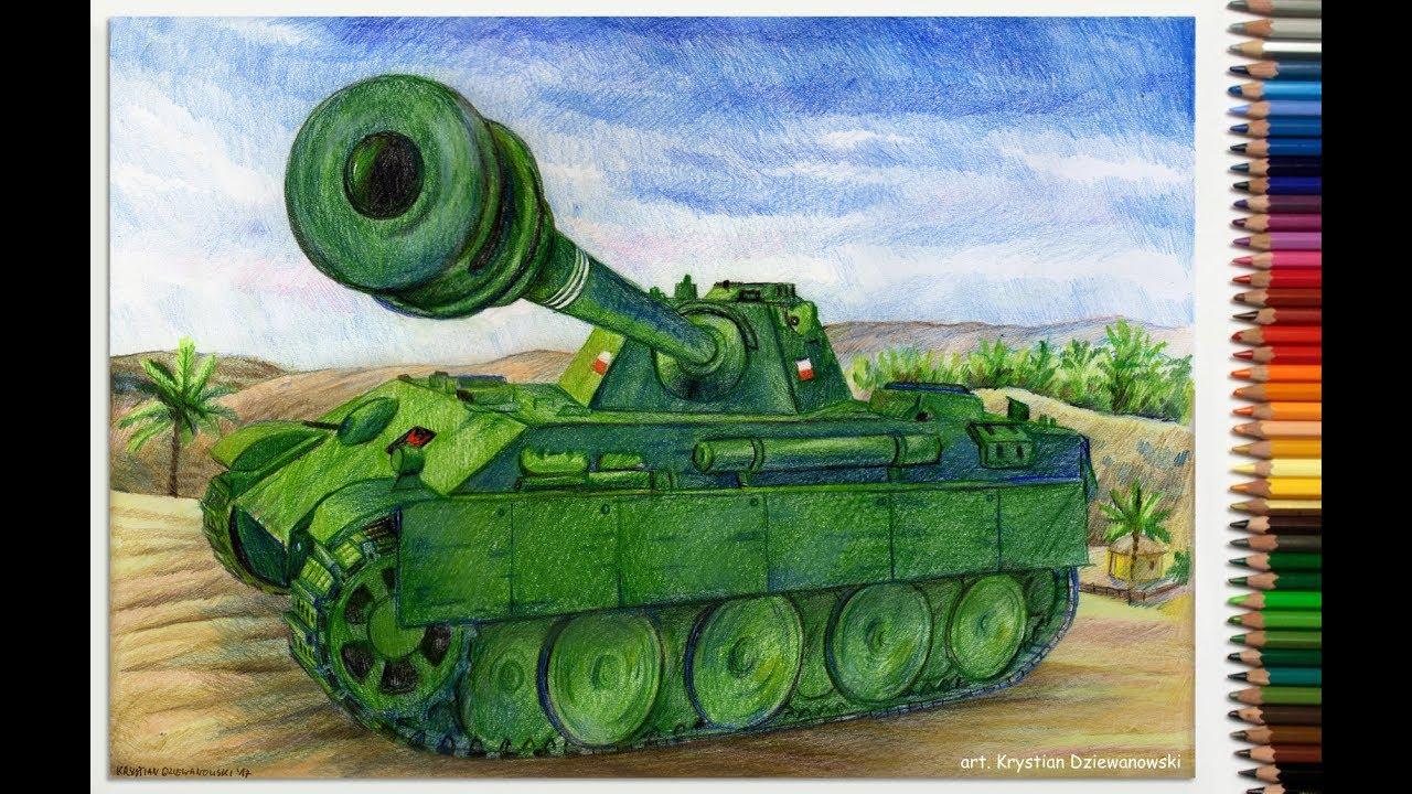 Rysuję czołg Pantera – V Panther z World of Tanks