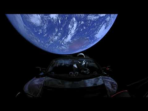 Full 4 hours of SpaceX Live Views of Starman #Tesla | CAR IN SPACE!