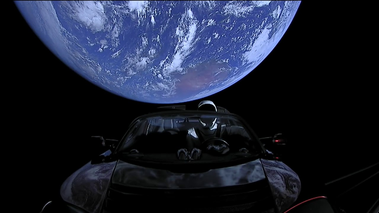 Full 4 hours of SpaceX Live Views of Starman #Tesla   CAR ...