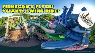 Finnegan's Flyer! *GIANT* Swing Ride at Busch Gardens Williamsburg! Onride POV! New for 2019