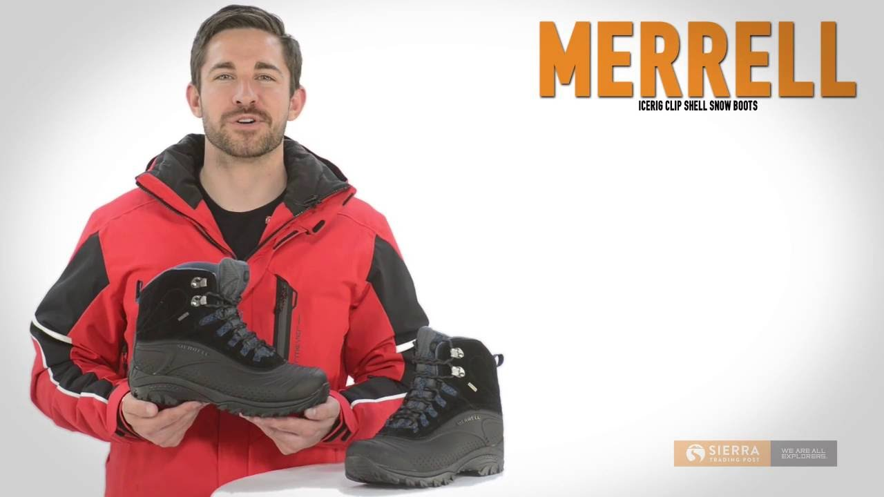 4e2a7299fa Merrell Icerig Clip Shell Snow Boots - Waterproof, Insulated (For Men)