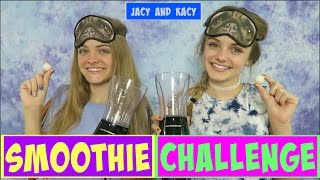 Gumball Guess It or Drink It ~ Smoothie Challenge ~ Jacy and Kacy